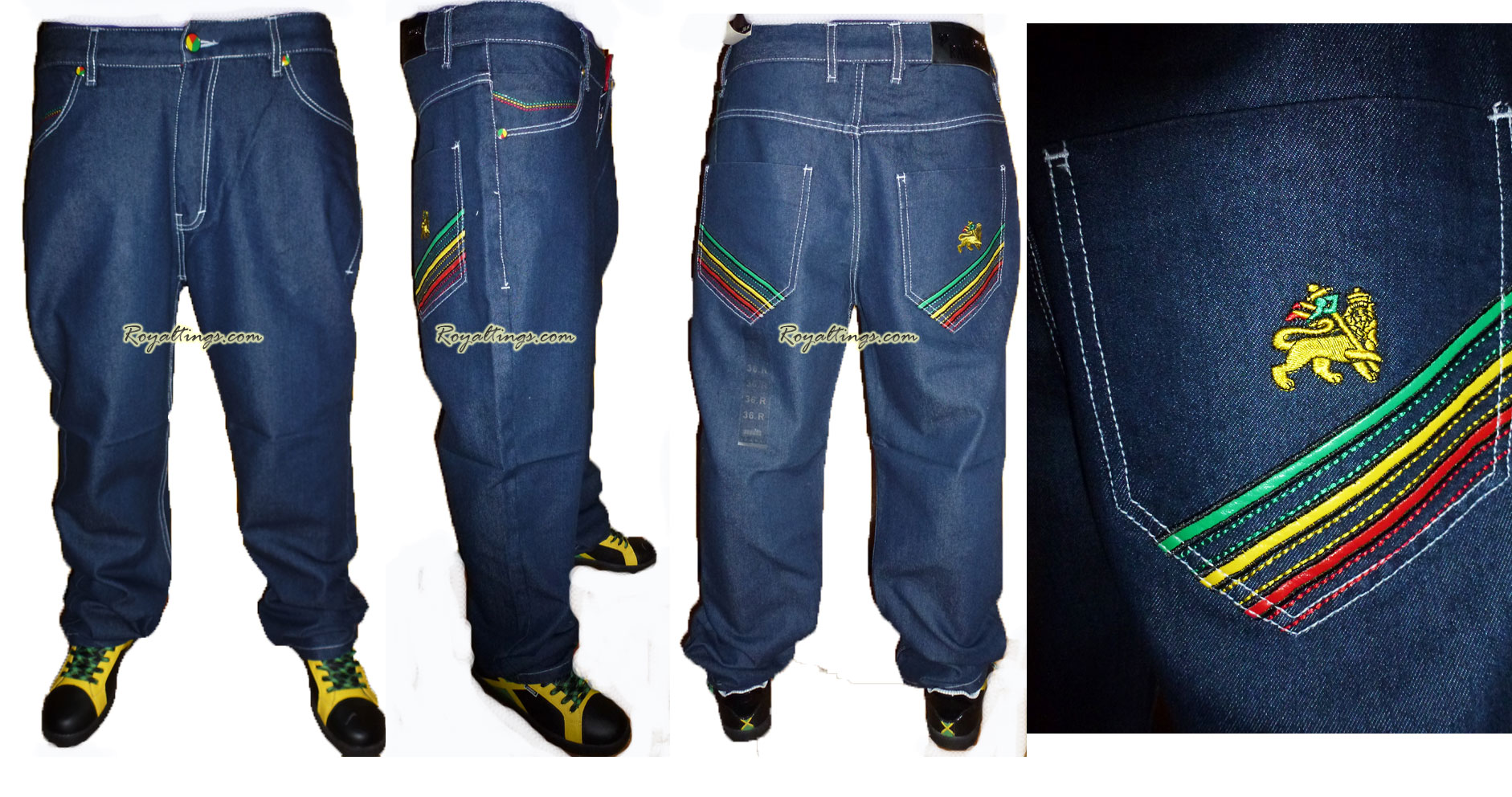 Baggy Jean Rasta Lion of judah 6